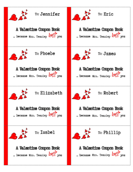 Editable Valentine's Day Coupon Book