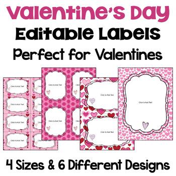 Editable Valentines