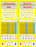 Back to School Desk Tags: Vertical (Editable Yellow Primary)