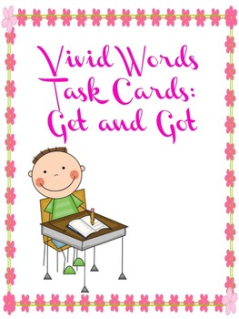 Editable Vivid Words Task Cards