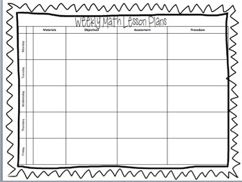 Editable! Weekly Lesson Plan Template