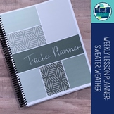 Editable Weekly Lesson Planner 17-18: Soft Grey
