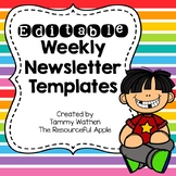 Editable Weekly Newsletter Templates