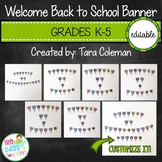 Editable Welcome Back to School Banner