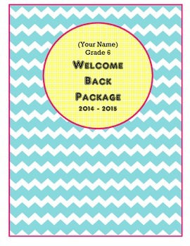 Editable Welcome Back to School Package