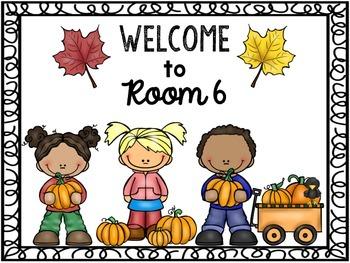 Editable Welcome Sign (October/November)