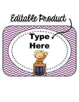 Editable When I'm done...(purple chevron background)