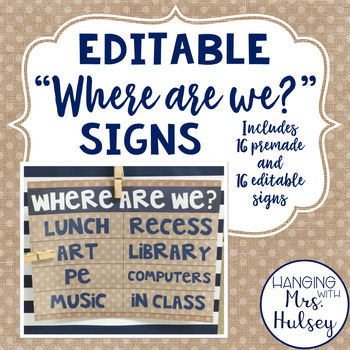 Editable 'Where are we?' Posters