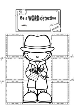 Editable Word Detective Interactive Notebook (for any word
