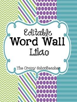 Editable Word Wall {Lilac}