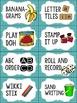 Editable Word Work Labels: Blue Hexagon