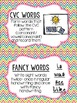 Editable Word Work Labels: Multi Chevron