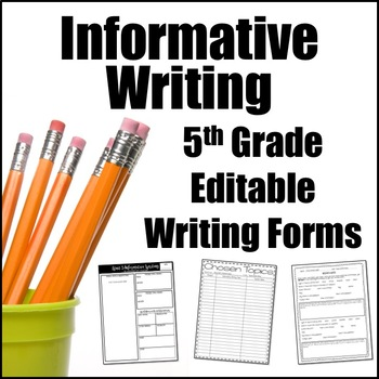 Editable Writing Forms {Informative & Expository Writing -