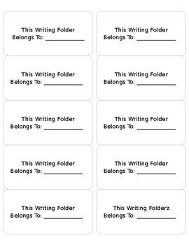 Editable Writing Notebook Labels