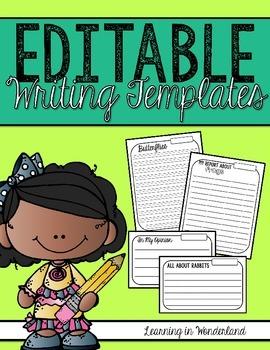 Editable Writing Templates