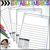 Editable Writing Templates {Embedded Rubrics}