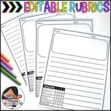Editable Writing Templates {Embedded Rubrics}