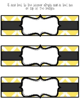 Editable Yellow and Black Basket Labels