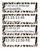 Editable Zebra Pocket Chart Schedule