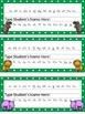 Editable Zoo Animal and Polka Dot Themed Name Desk Plates