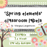 Editable classroom labels (Spring elements)
