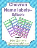 Editable name labels / tags - Chevron