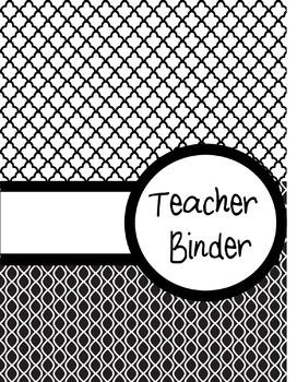 EditableTeacher Binders - Covers and dividers