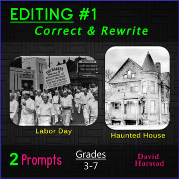 Editing #1: Labor Day & Halloween Printable Prompts (Grades 3-7)