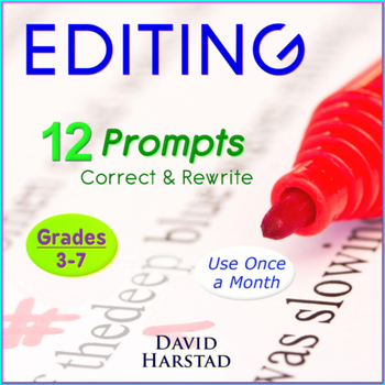 Editing Worksheets: 12 Printable Prompts (Grades 3-7)