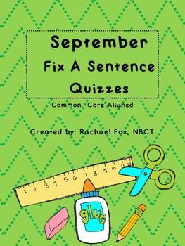 Editing A Sentence (Sentence editing) - September