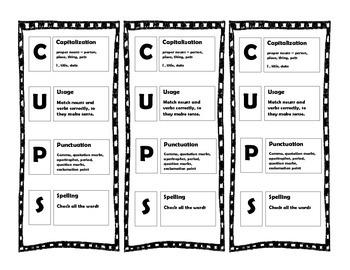 Editing C.U.P.S.