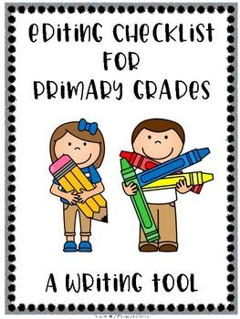 Editing Checklist for the Primary Grades