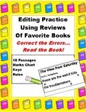 Editing & Grammar Practice Using Short Book Reviews: Punct