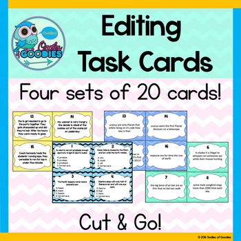 Editing Task Cards - Bundle