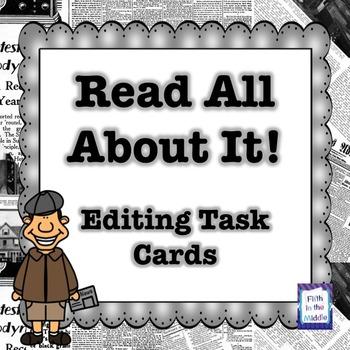 FREE Editing Task Cards