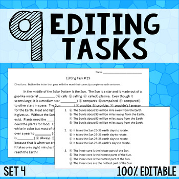 Editing Tasks - Grammar Practice 4