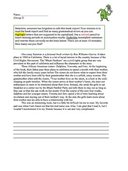 Editing a Book Report