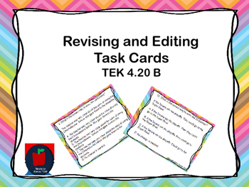Editing and Revising Task Cards TEKS 4.20B
