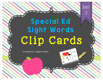 Clip Cards: More Special Ed Sight Words