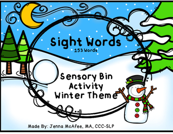 Sight Word Sensory Bin, Winter Theme