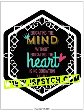 Educating the Mind Quote Printable
