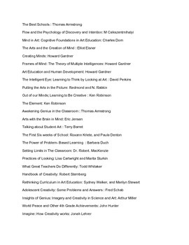 Education reading list