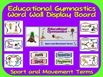 Educational Gymnastics Word Wall Display: Sport, Graphics