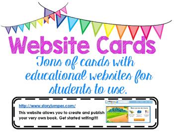 Educational Website Cards