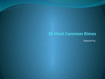 Edward Fry 38 most common Rimes