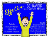 Effective Behavior Intervention Manual, PBIS & RtI Friendl
