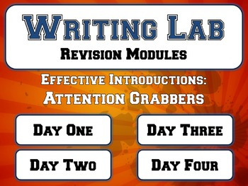 Effective Introductions: Attention Grabbers - Writing Lab