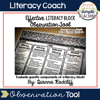 Effective Literacy Block ~ Observation Tool