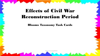 Effects of Civil War Reconstruction Period