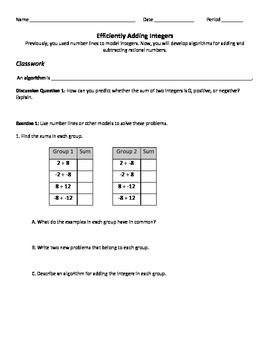 Efficiently Adding Integers: Supplement